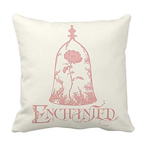 Disney Beauty & the Beast Enchanted Rose Throw Pillow (front)