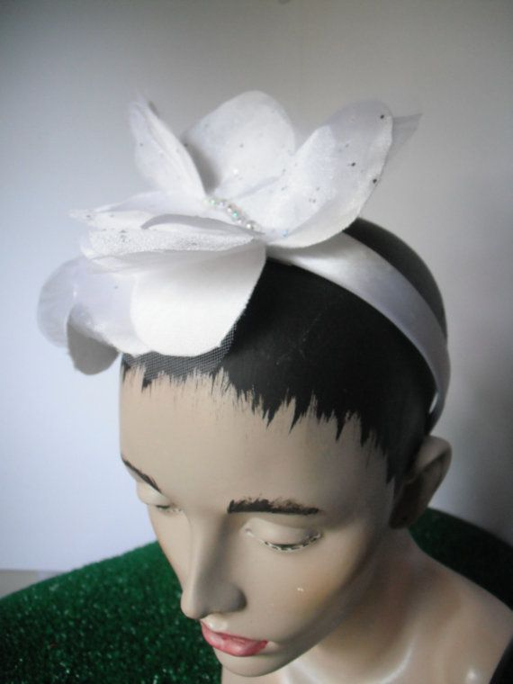 Bridal Headband White Butterflies by kisforkitty on Etsy