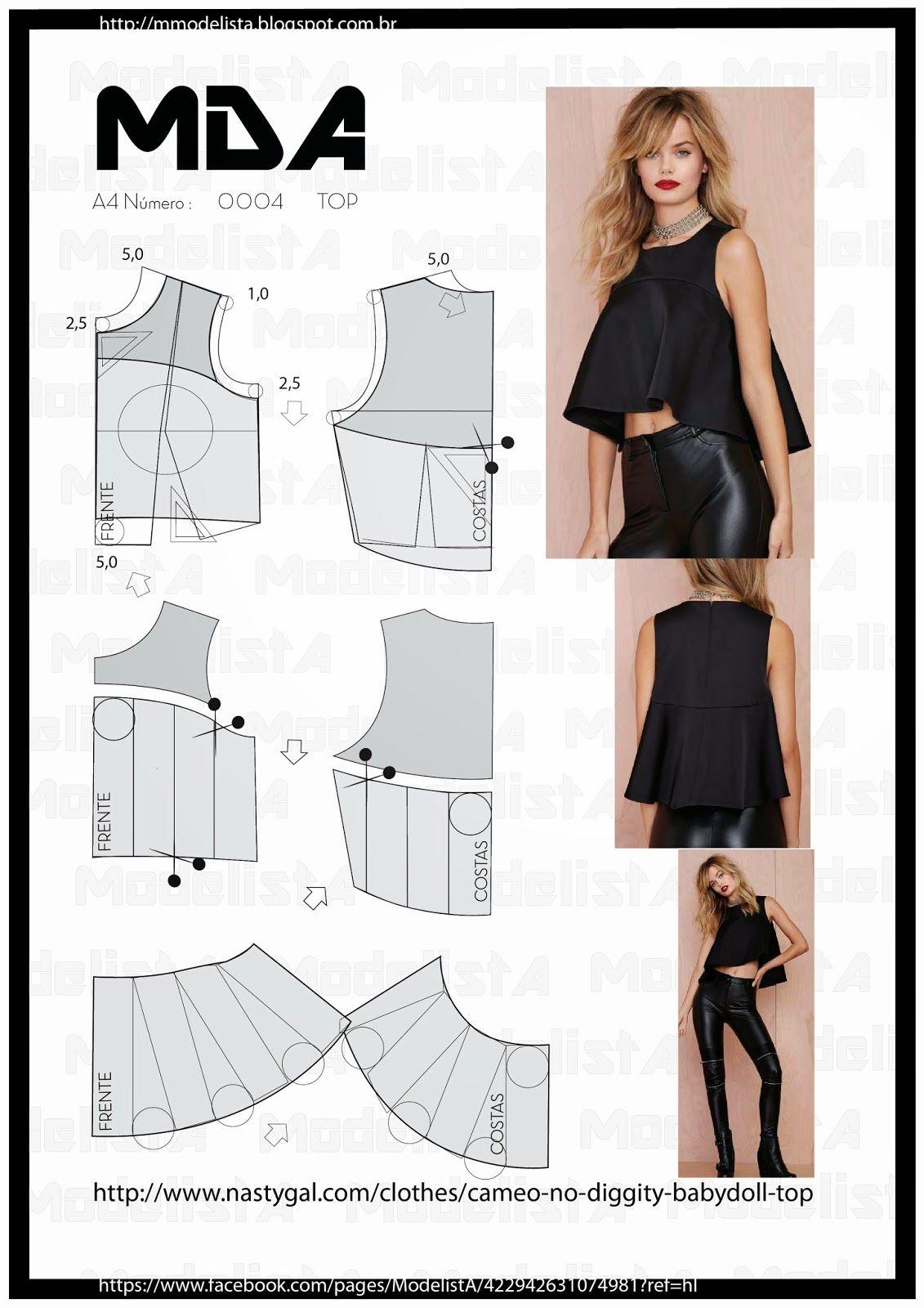 0c9cd40dce ModelistA: Resultados da pesquisa Top | Moldes | Remodelando roupas ...
