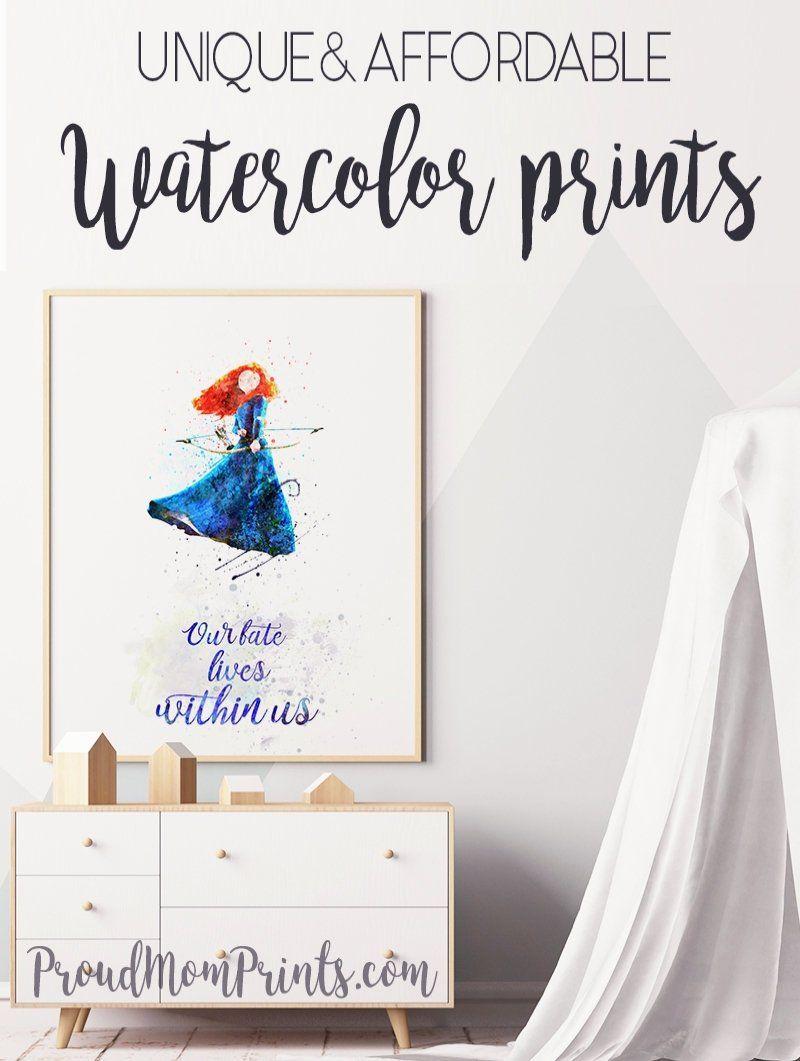 Pinocchio Print Poster Watercolour Framed Canvas Wall Art Disney Art Nursery