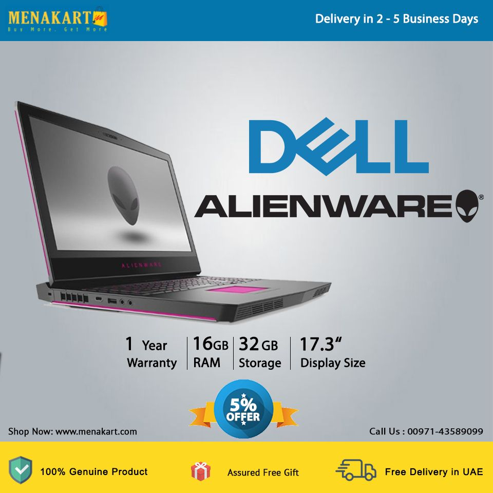 Dell Alienware Awm17 17 3 Inch Uhd Laptop Intel Core I7 6820hk