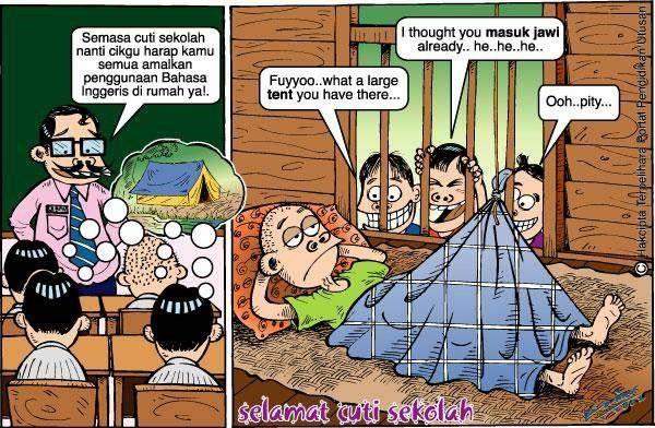 Lawak 1001 Teka Teki Tidak Luput Ditelan Zaman Dengan Jawapan Yang Sangat Logik Kisah Benar Cute Cartoon Funny Pictures Comics