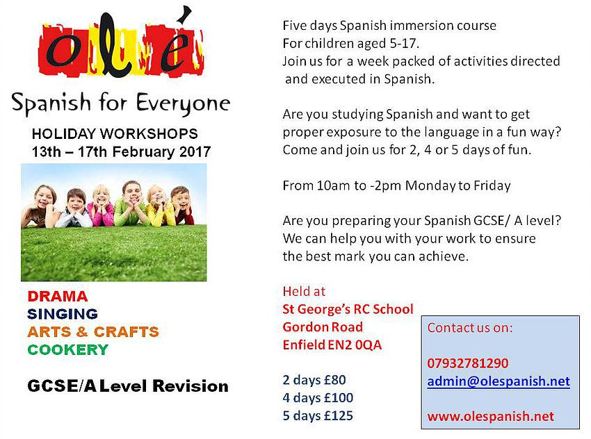 Ole Spanish for Everyone has been providing lessons for all levels for over 10 years. Give us a call and start speaking Spanish