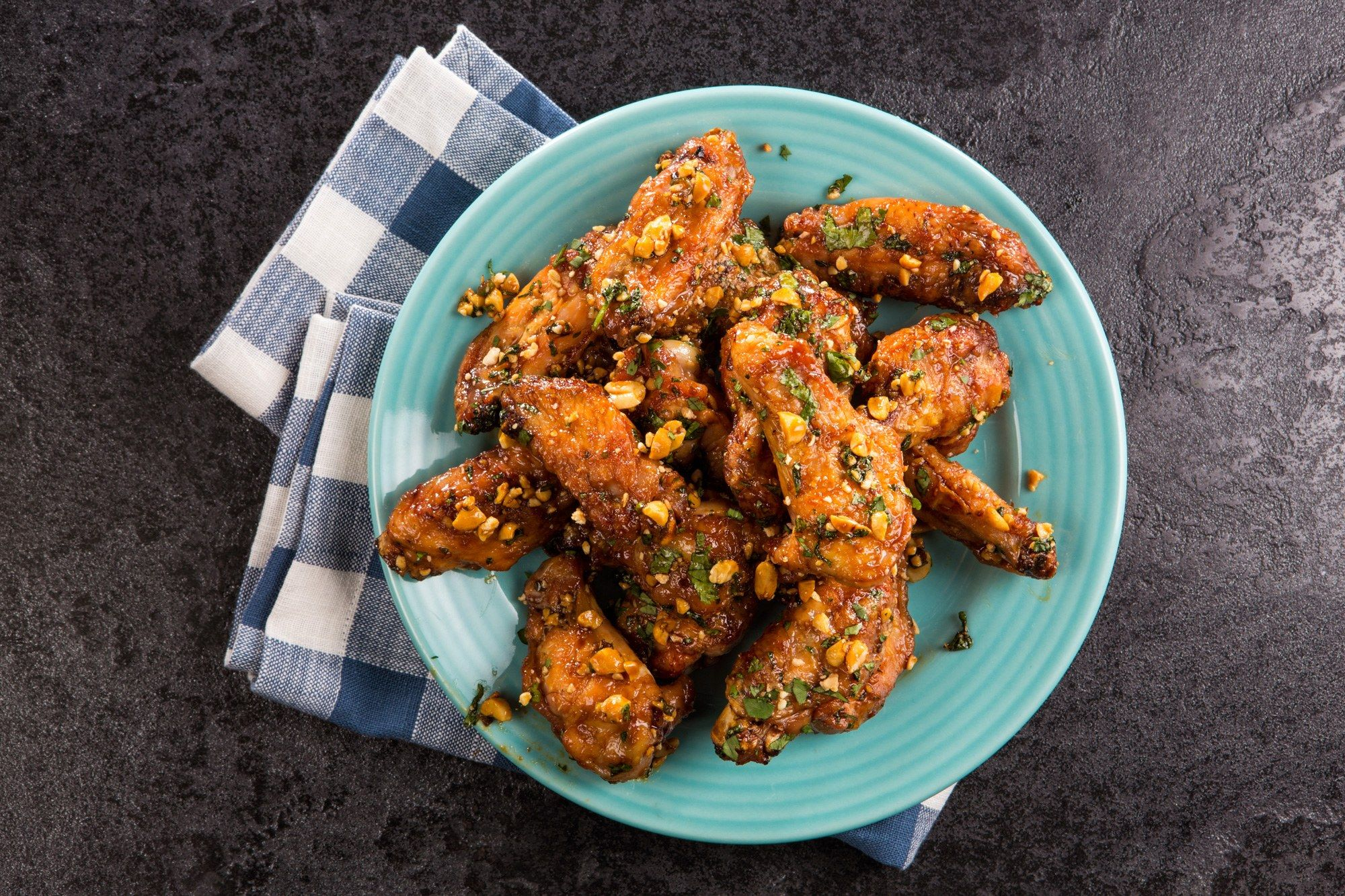 Pok Pok Style Hot Wings With Peanuts And Cilantro Recipe