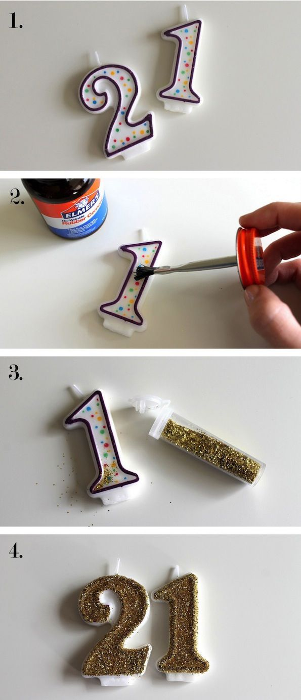 Turn tacky store candles into something fun