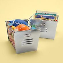 The Land of Nod | Kids Storage: Kids Metal Locker Storage Baskets in Tabletop Storage