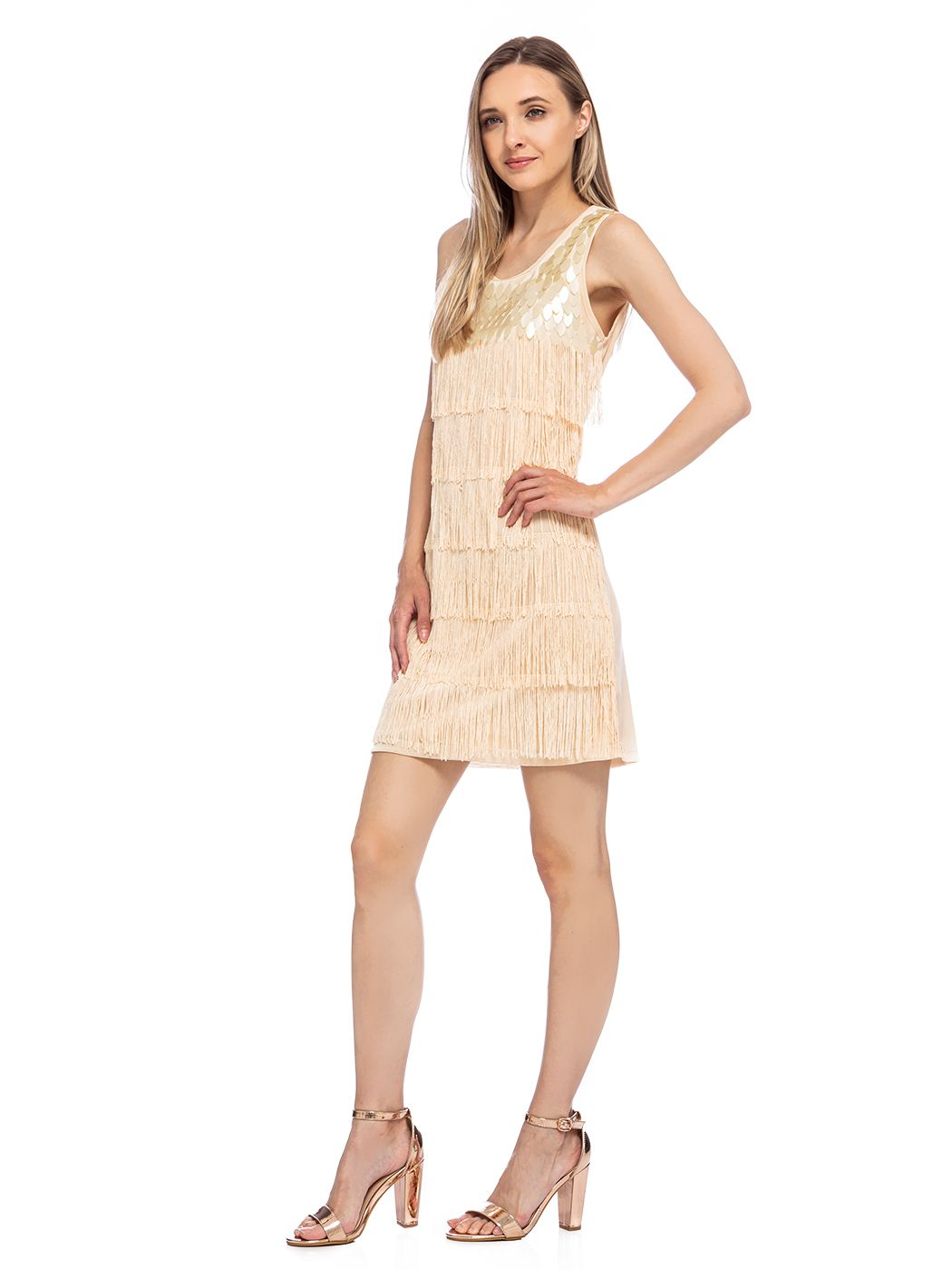 Feinuhan Women S 1920s Flapper Solid Color Fringed Sequin Cocktail Party Dress Walmart Com Flapper Inspired Dress Dresses Long Sweater Outfits [ 1400 x 1050 Pixel ]