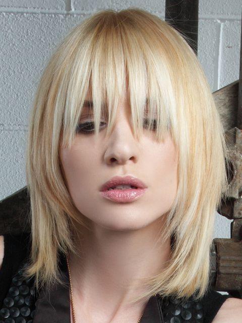 Fransige frisuren lange haare