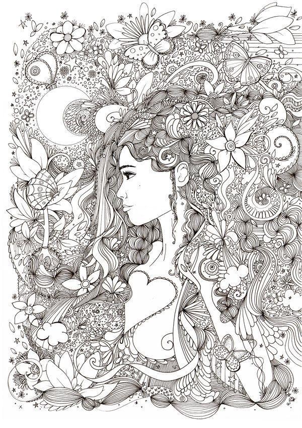Abstract Coloring Pages Raskraski