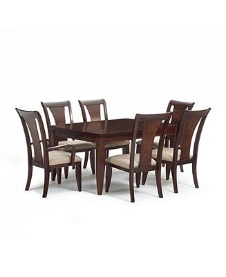 Metropolitan Contemporary 7Piece Dining Set Dining Table 4 Side Amusing 2 Piece Dining Room Set Design Ideas