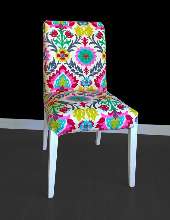Ikea Dining Chair Cover Colorful Mexican Flower For
