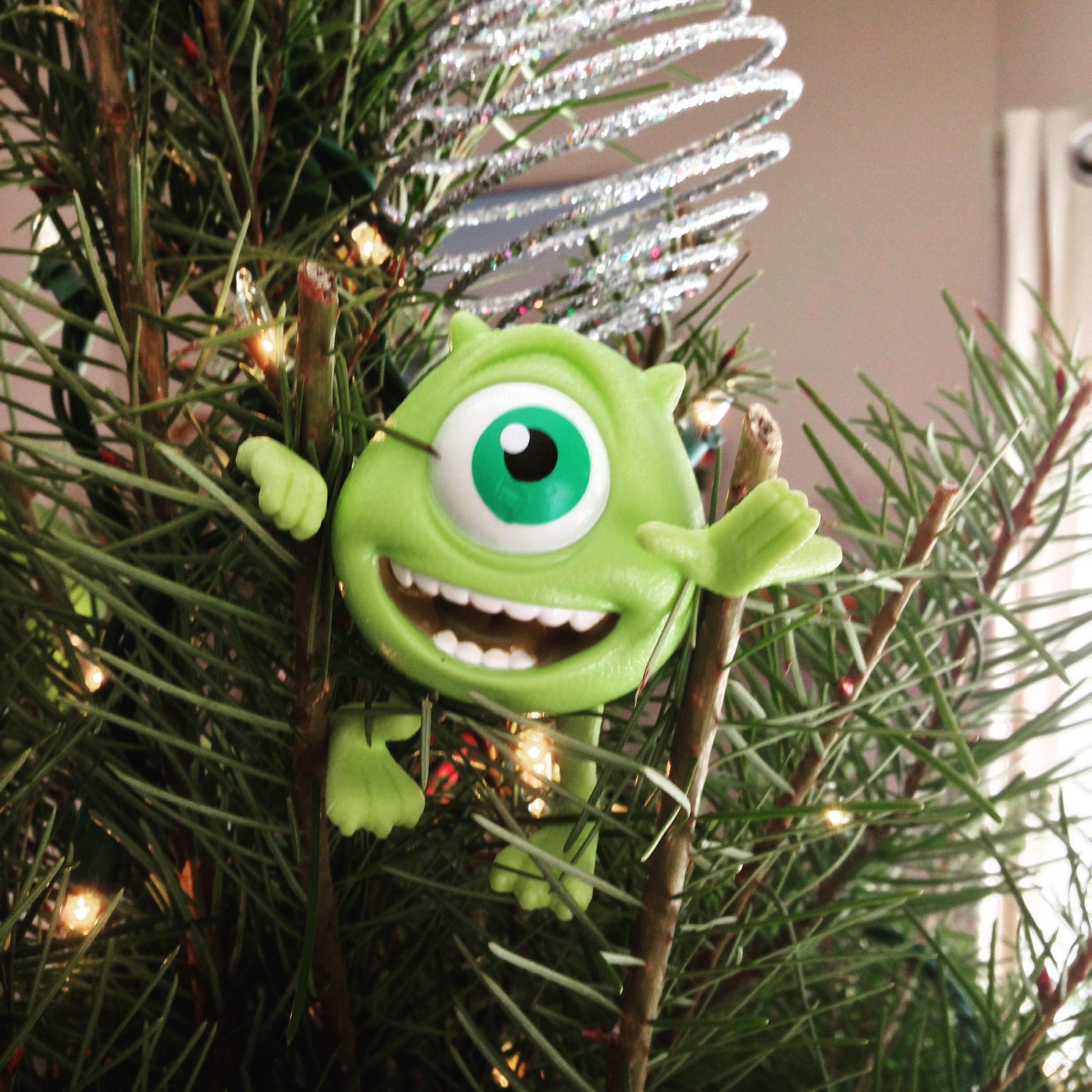 Mike Wazowski from Monsters on my Christmas tree