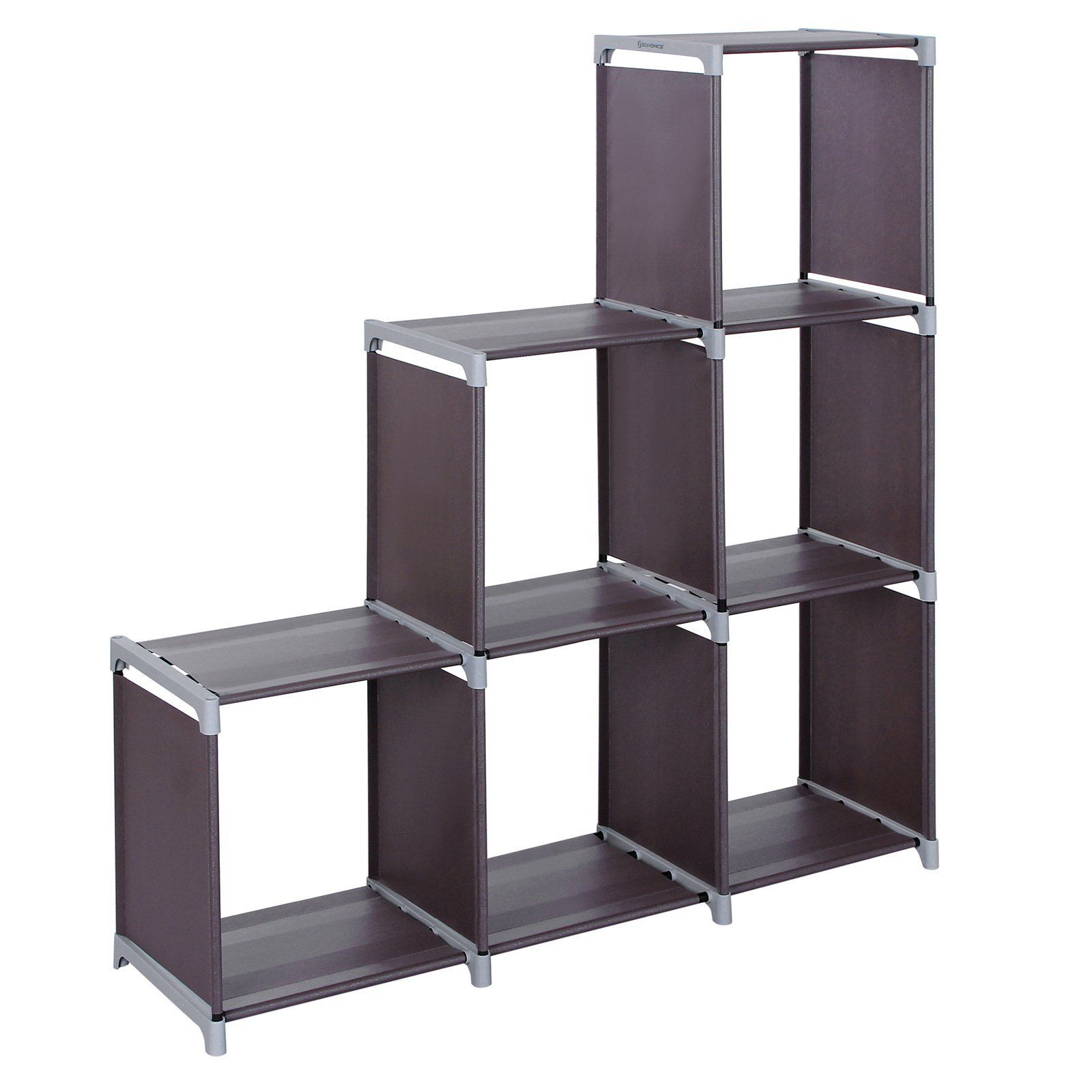 Songmics 3tier Storage Cube Closet Organizer Shelf 6cube Cabinet