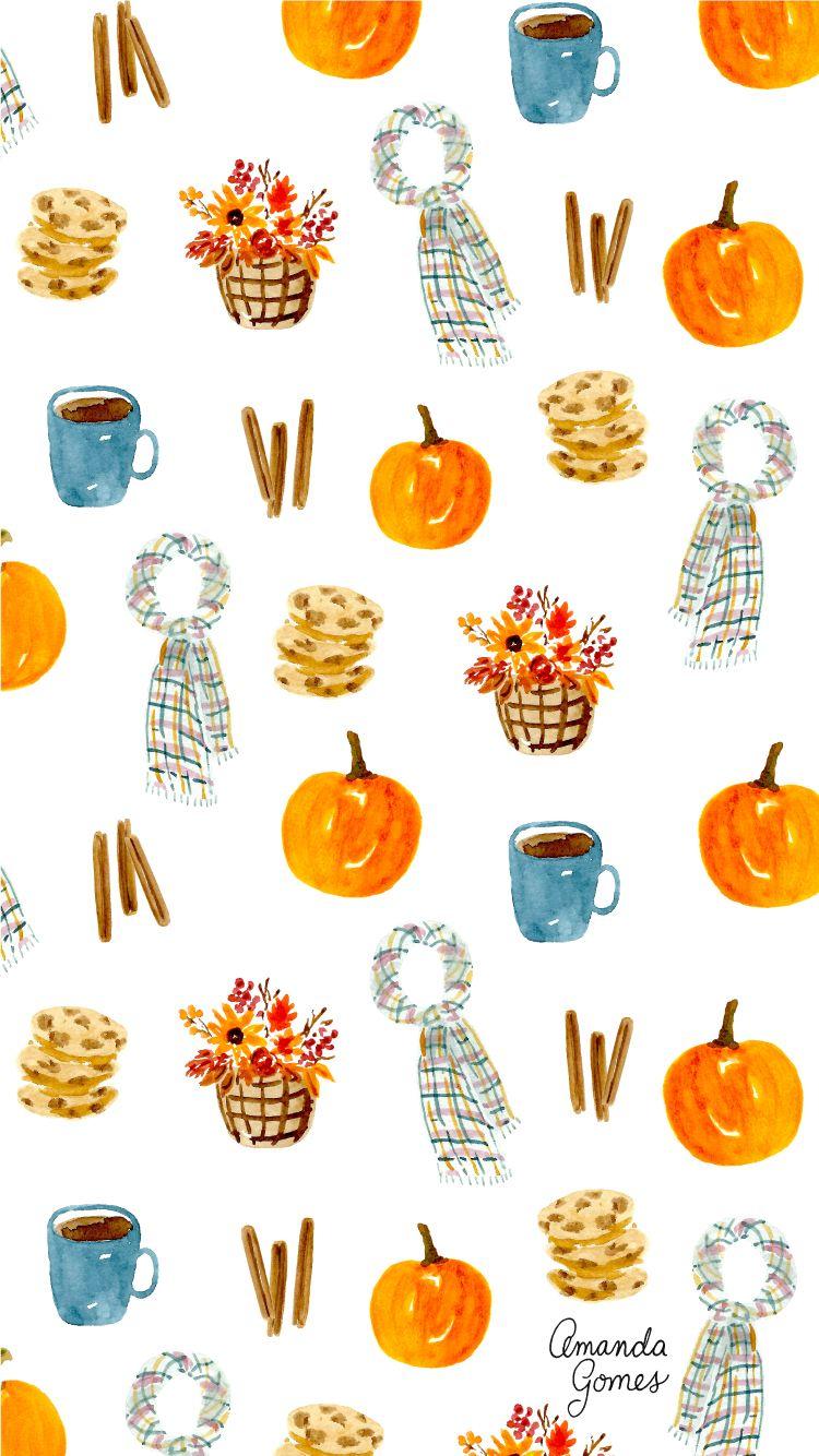 Wallpapers Autumn Pumpkin Wallpapers Thanksgiving Iphone Wallpaper Pumpkin Wallpaper Holiday Iphone Wallpaper