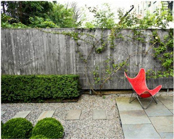 steine geschnittene strauch garten gestalten kies, Gartenarbeit ideen