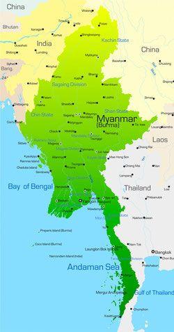 Karte Myanmar.Myanmar Karte Travel Myanmar Travel