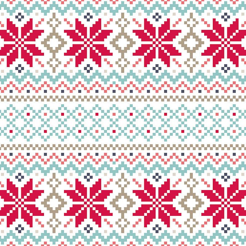 Nordic Pattern Christmas Card Jule cross stitch Pinterest Patterns, Fai...