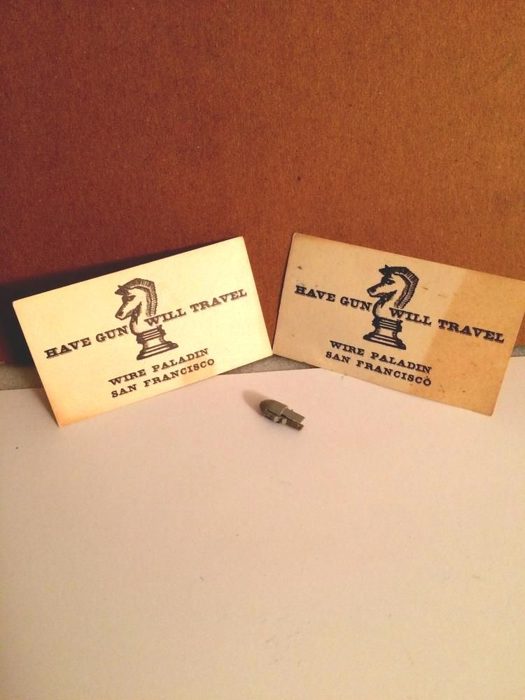 Have Gun Will Travel Business Card And Bullet #vintage 50s-60s from ...