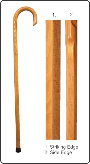 MARTIAL ARTS-MADE IN THE USA  OAK CANE SELF PROTECTION WALKING CANE-