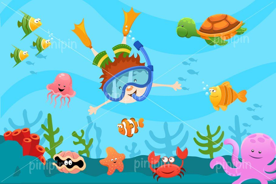 Diving Kid Diver Art Art For Kids Kids Vector