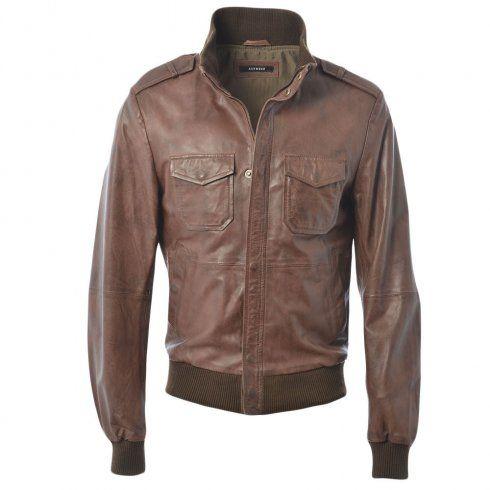 2fe5880cb6d Mens Ashwood Dublin Mid Brown Ani Leather Coat   Mens Leather ...