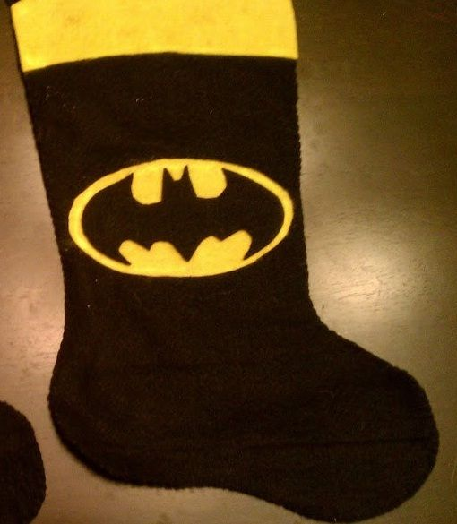 batman christmas stocking what if you added the recognizable ears on top