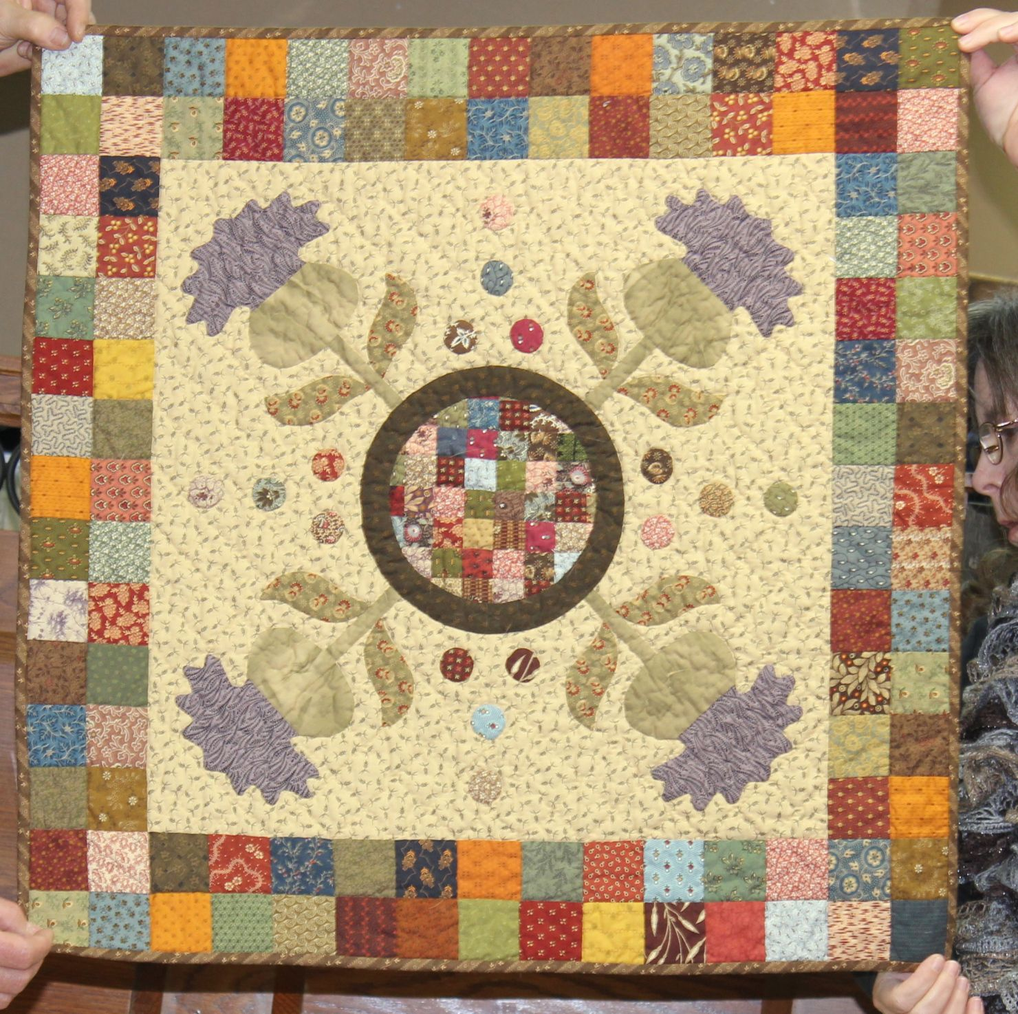 Here is Part 2 of the Christmas Open House coffee table turning….again I apologize if I got anything wrong…Cindy Johnson, was the make of the Mystery quilt…from yesterday… I…