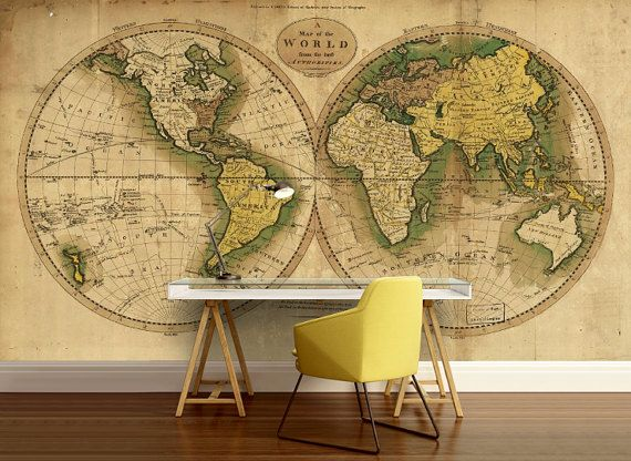 World map wallpaper old map wall mural vintage old map mural world map wall mural vinly wall mural vintage old by 4kdesignwall gumiabroncs Image collections