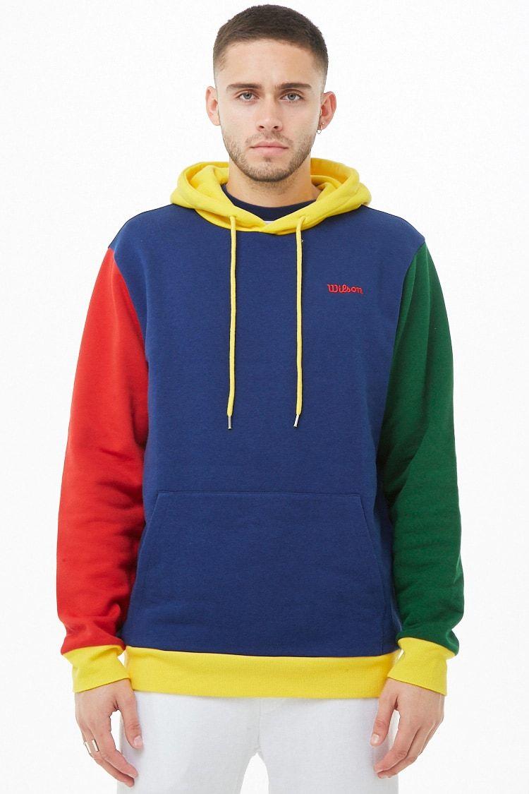 4c3ca2bdc Wilson Fleece Colorblock Logo Hoodie