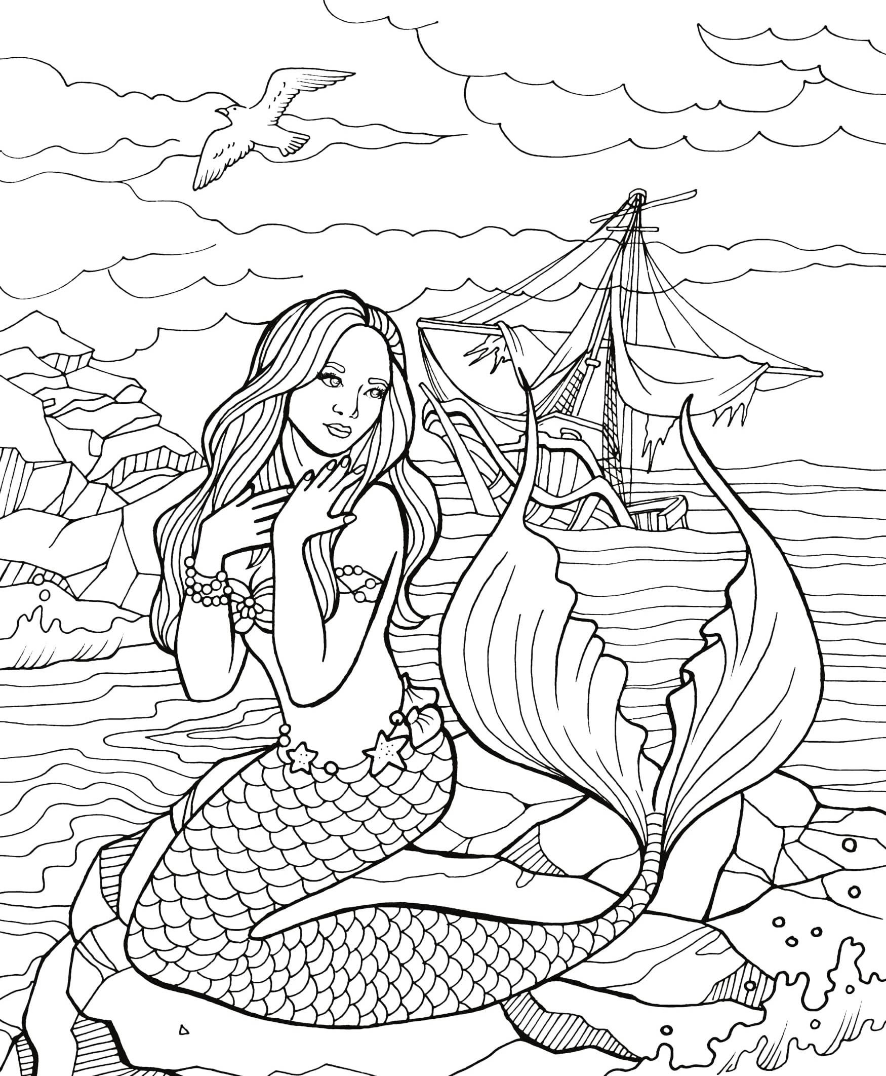 Pin By Stacyroller On Color Time Mermaid Coloring Pages Fairy Coloring Pages Mermaid Drawings [ 2124 x 1750 Pixel ]