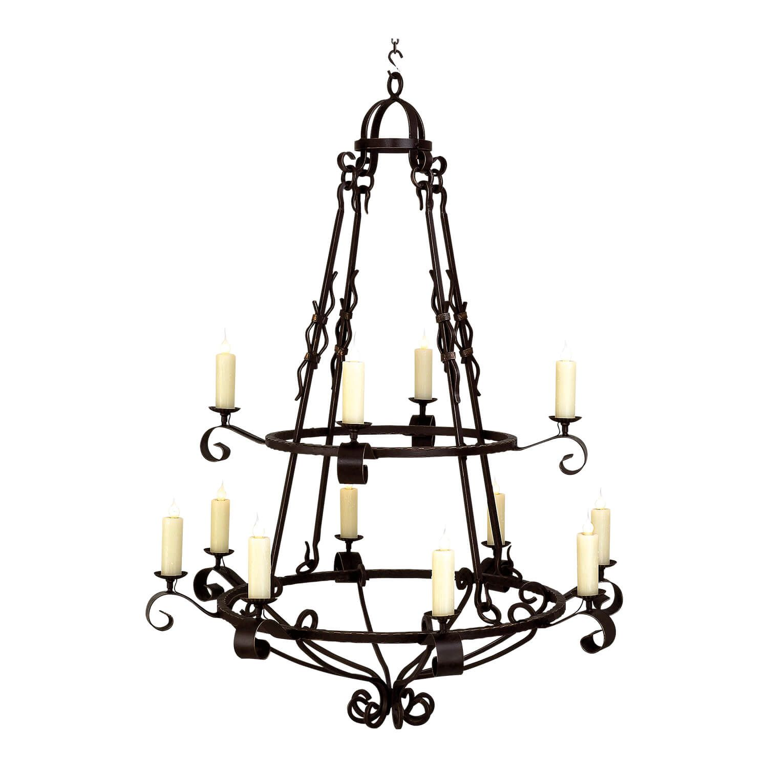 2 Tier Marco Polo 12 Lights In 2020 Iron Chandeliers