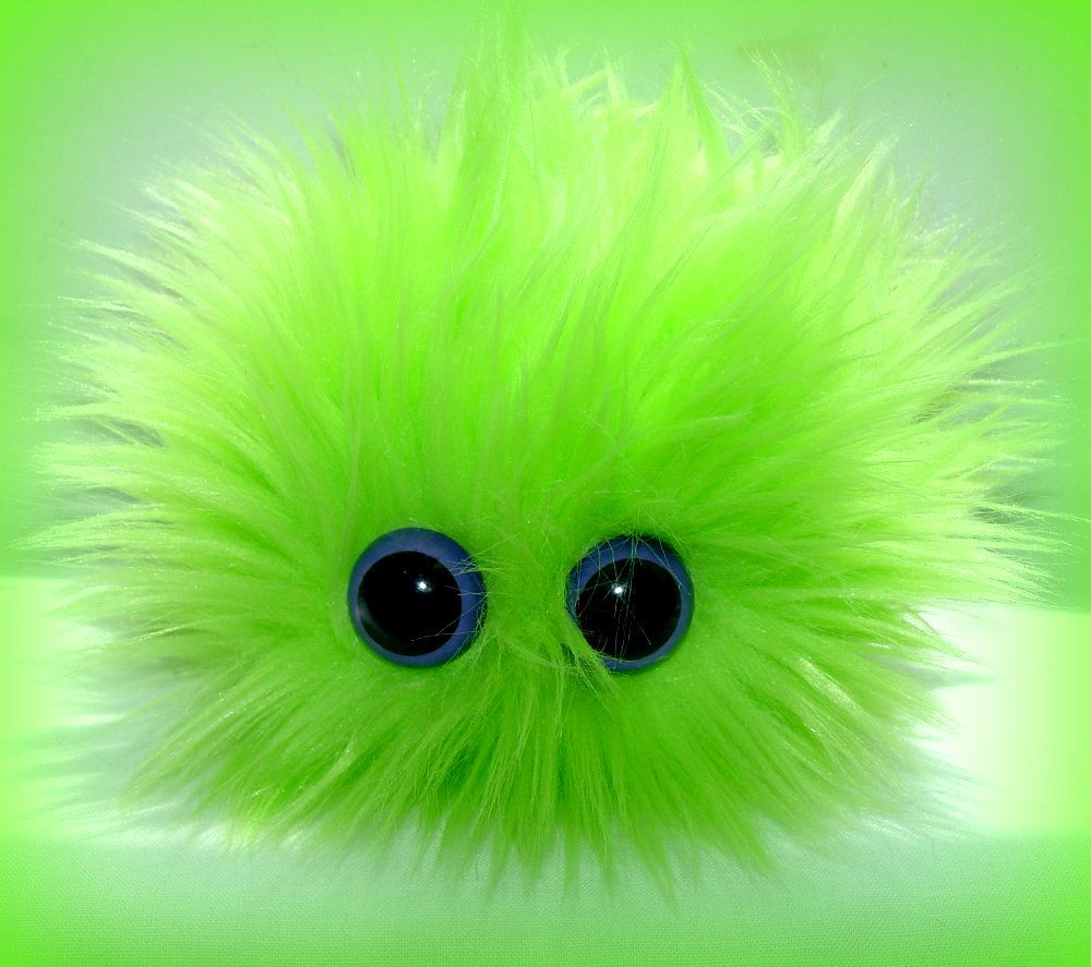 Lime green paint colors - Monster Barf Plushie With Barf Bag Monster Hairball Barf Lime Green Neon Purple Eyes 9 99