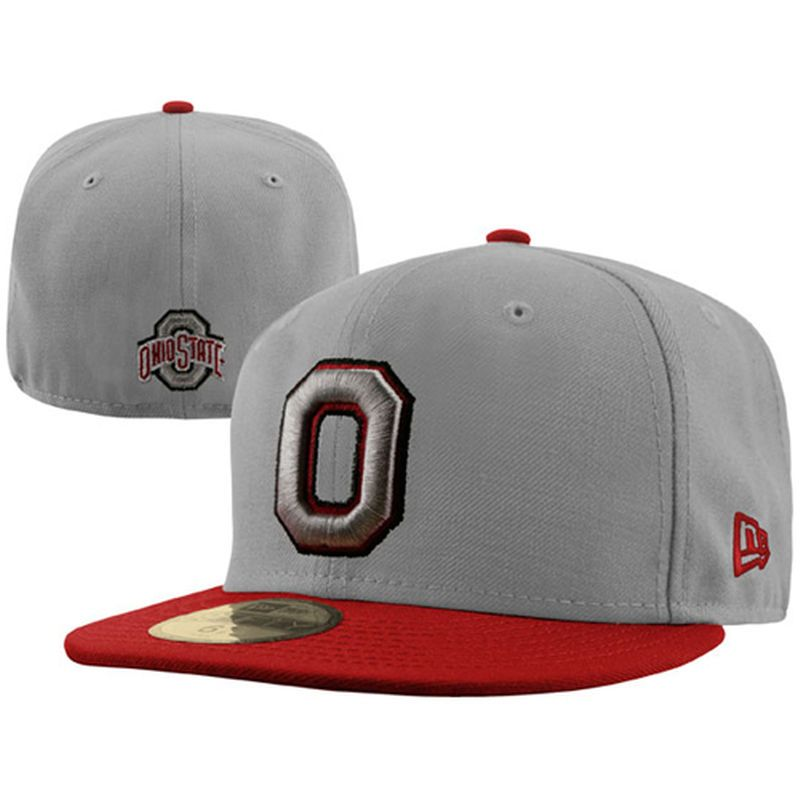 New Era Ohio State Buckeyes 59FIFTY Fitted Hat - Gray Scarlet  f7d60e390b2a