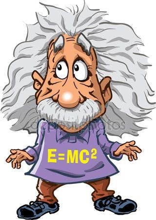 Ilustracion De Albert Einstein Archivo Imagenes Vectoriales 90095212 Cartoon Drawings Drawings Albert Einstein