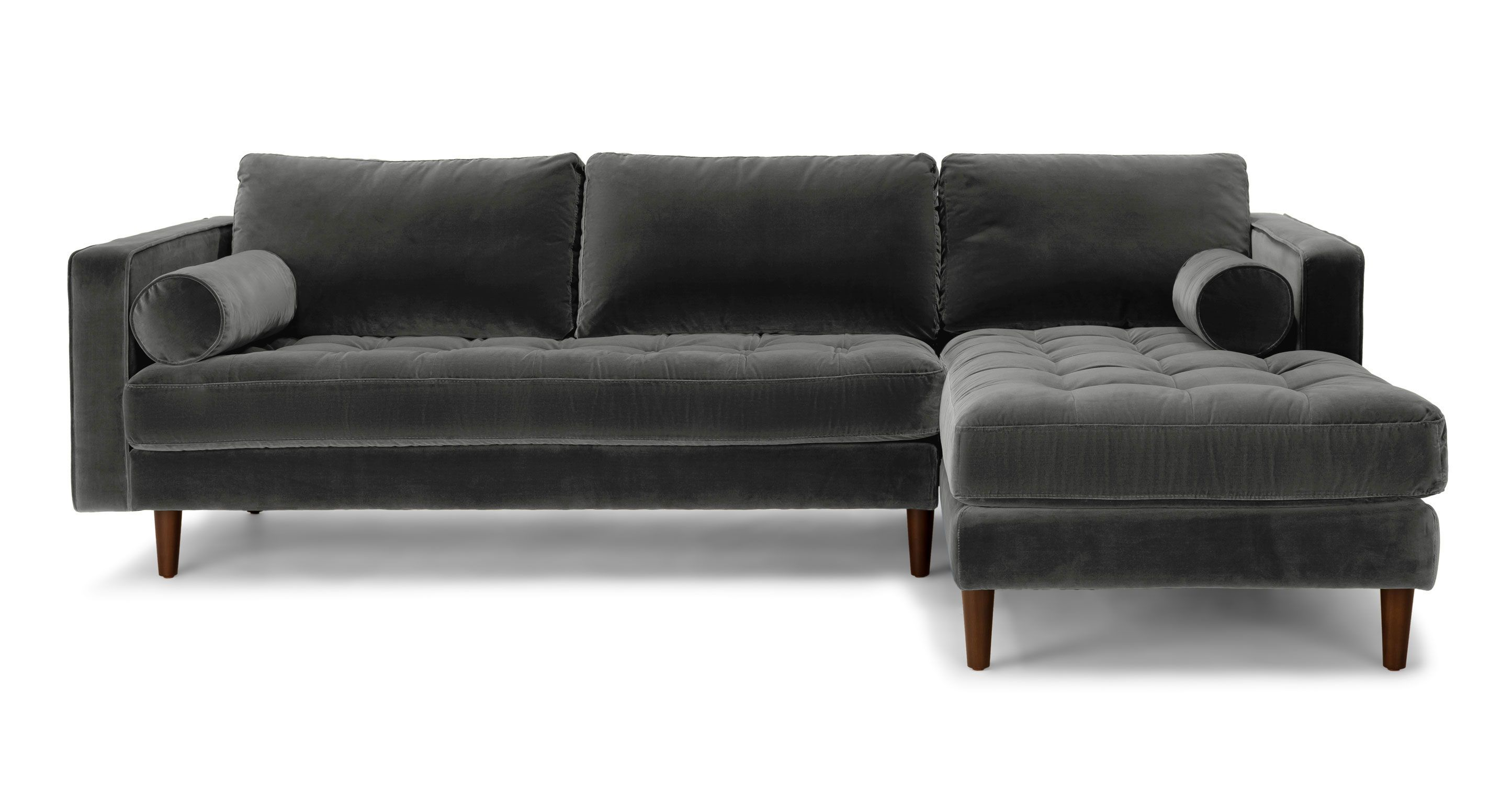 Beau Sven Shadow Gray Right Sectional Sofa   Sectionals   Article | Modern,  Mid Century And Scandinavian Furniture