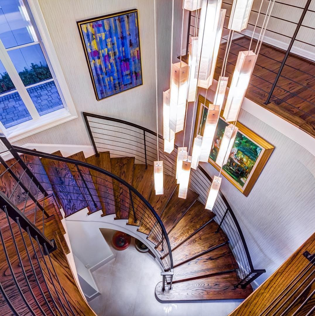 Best Foyer Chandelier I Modern Light For Staircase I Extra Large Fussed Glass Chandelier Foyer Lighting Modern Lighting Chandeliers Modern Chandelier