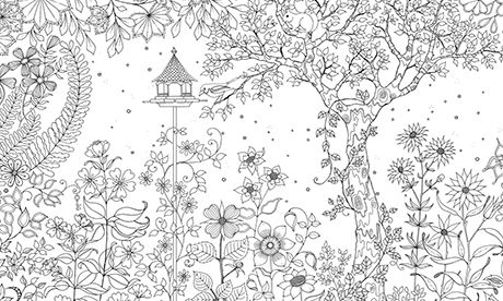 Secret Garden: colouring in for all | Garden coloring ...