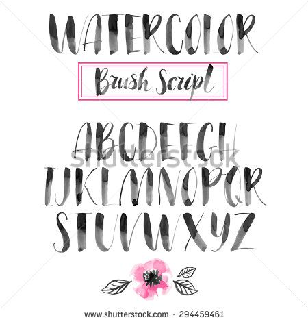 Handwritten Watercolor Calligraphic Font Modern Brush Lettering