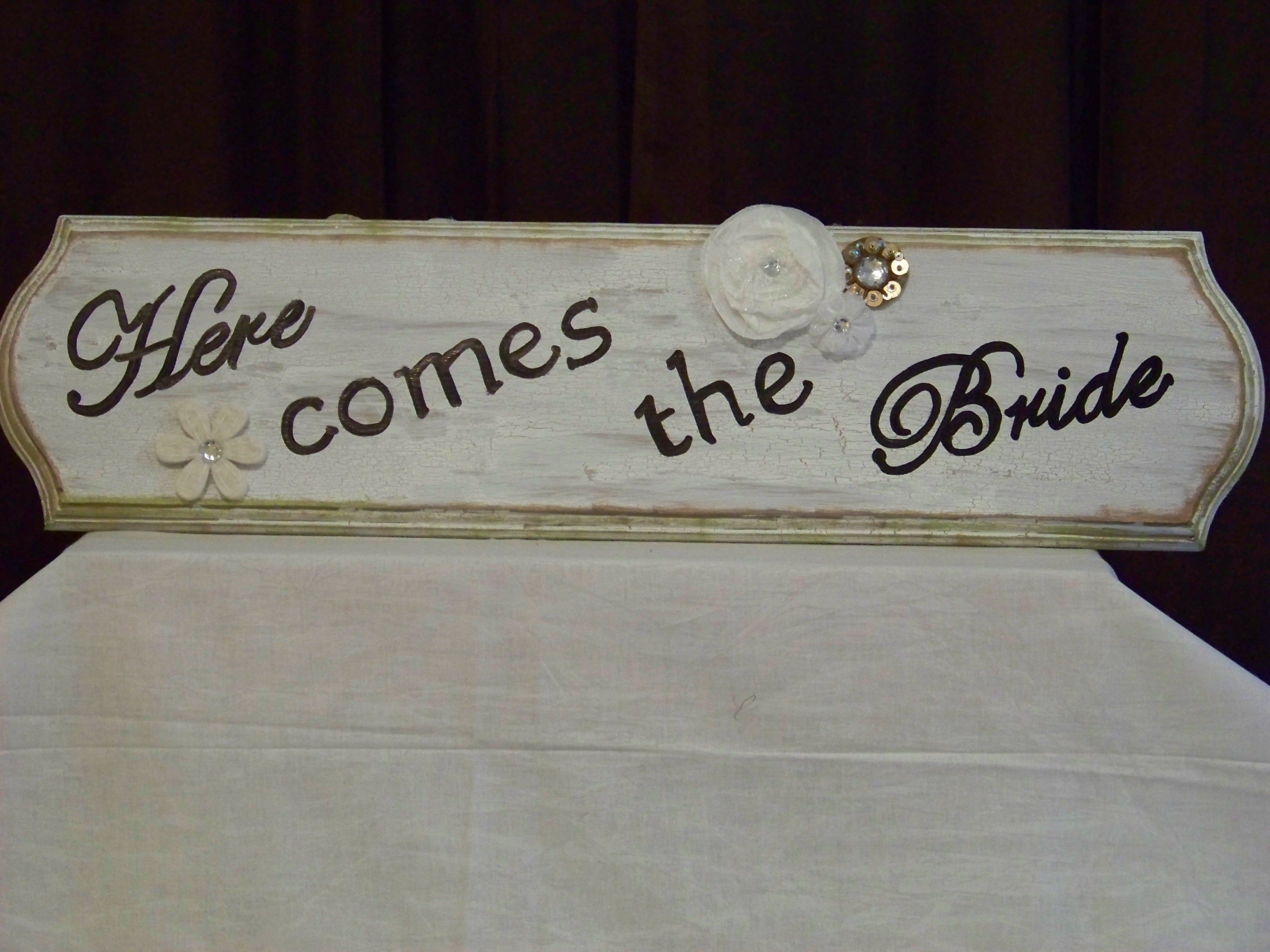 The front of the flower girl sign.