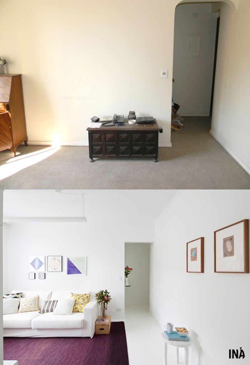 Antes E Depois Apartamento Com Espa Os Puros E Minimalistas Todo