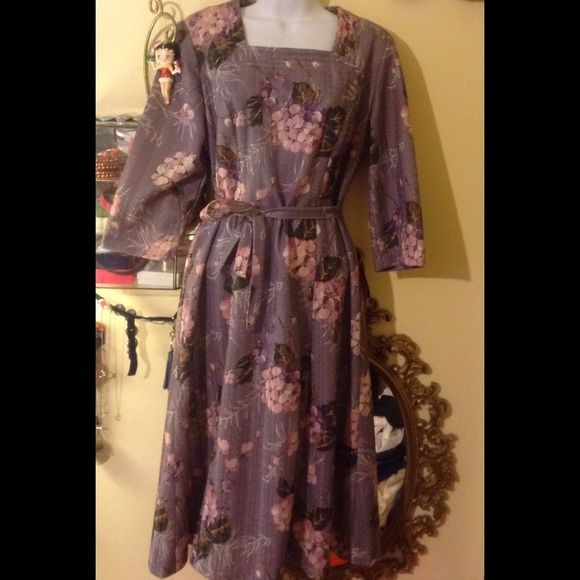 "Vintage dress, ""Three R's"" says size 14 1/2  This is a vintage dress from the 60's belonging to my hubby's Grandmother, says a size 14 1/2 however she was smaller than that so if interested plz ask me for measurements  plz ask any questions I am happy to answer, thank you for stopping by and Happy Poshing  Three R's Dresses"