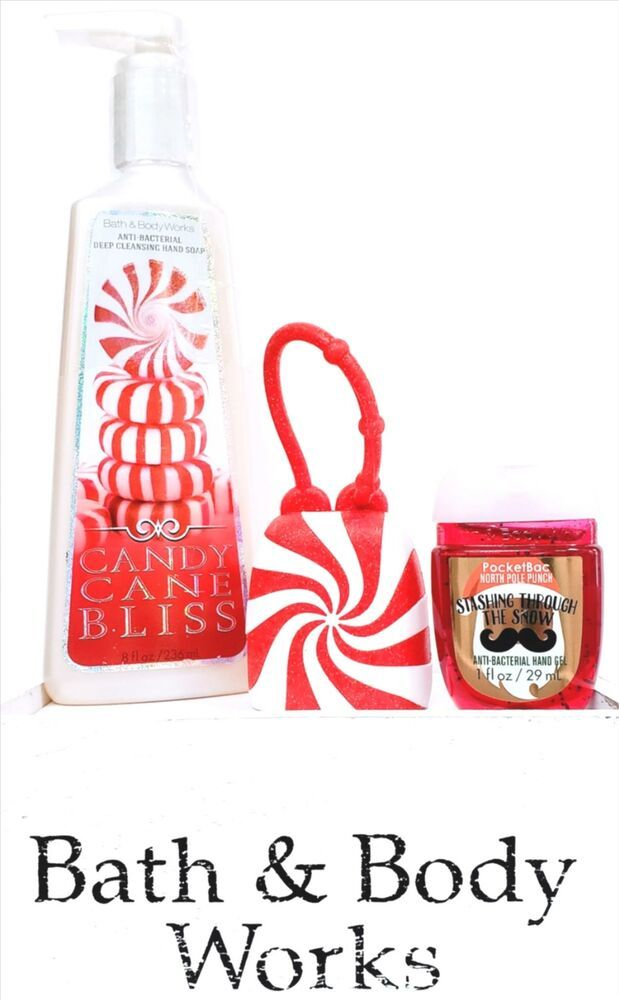 Bath Body Works Candy Cane Bliss Hand Soap Pocketbac Red