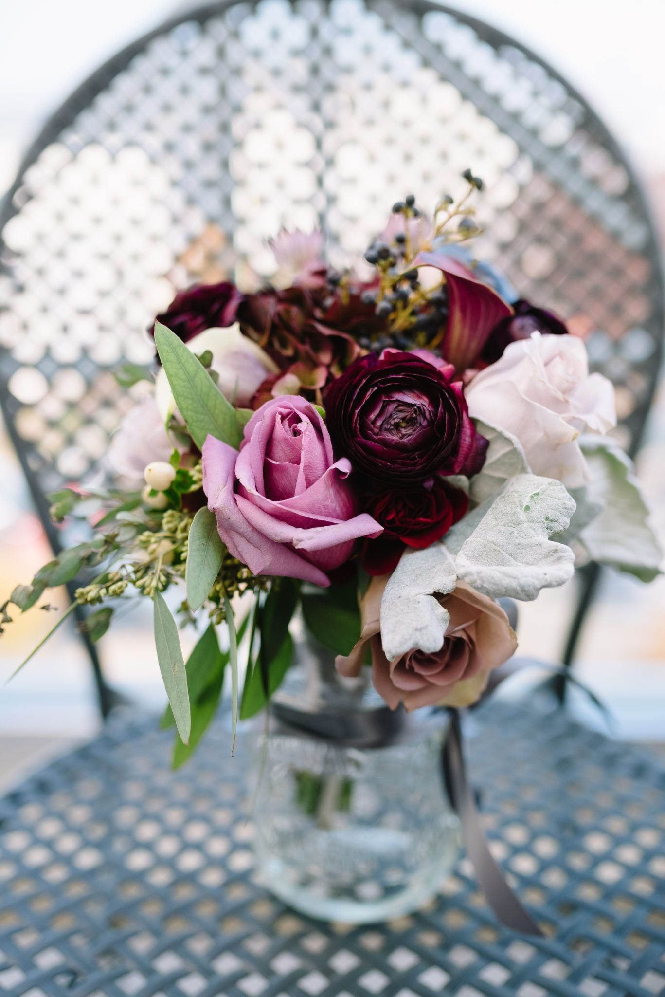 Deep Purple Jewel Tone Bridesmaids Bouquets Florals By Lilly Kate