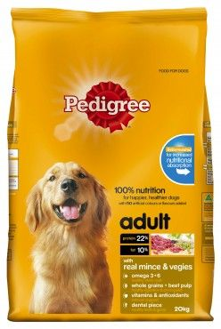 Pedigree Mince Vegetables 20kg Dog Food Recipes Best Dry Dog