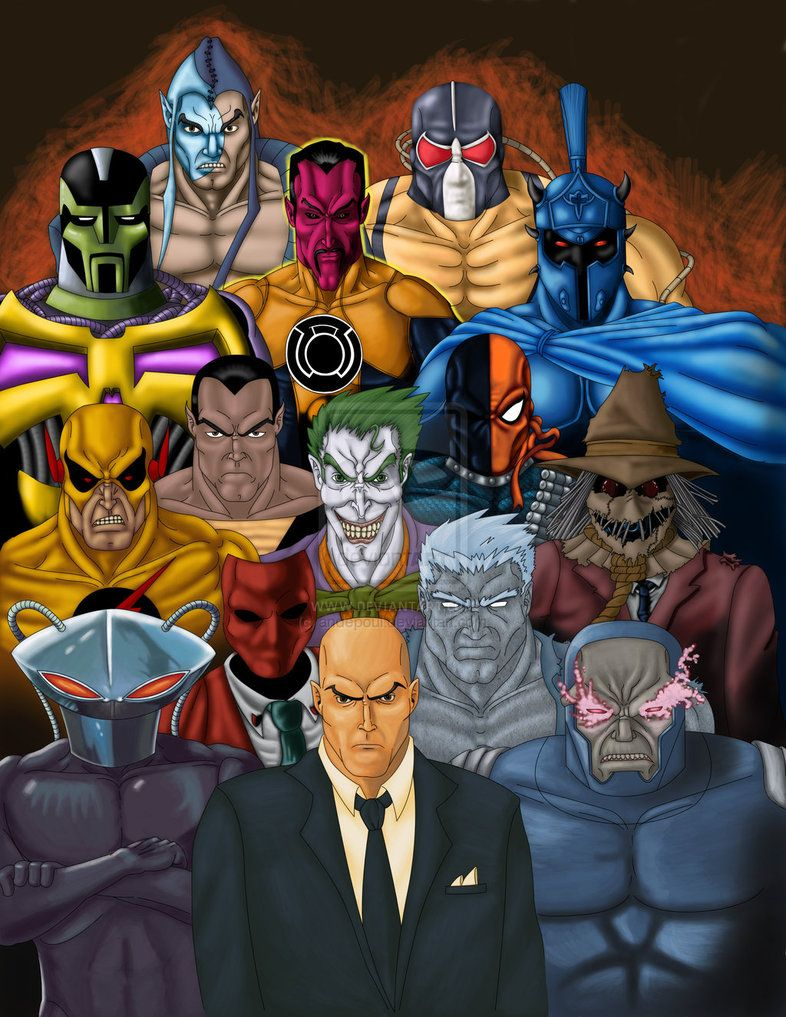 All comics villans   DC Villains Gallery by ~andepoul on