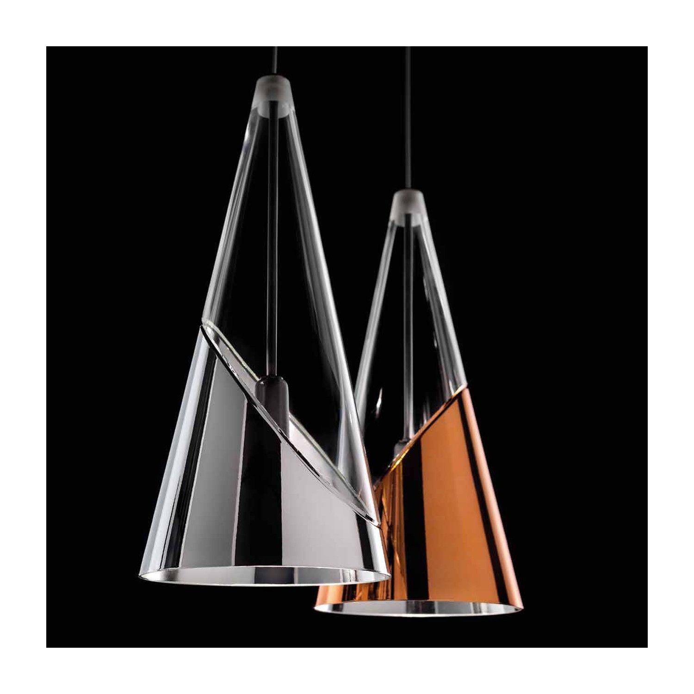 LAMPADE ITALIANE by SIL LUX SuspensionCristal conique avec broyage