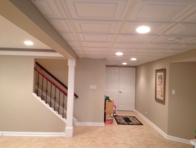 Pin By Ceilume On Living Room Ceilings Basement Ceiling