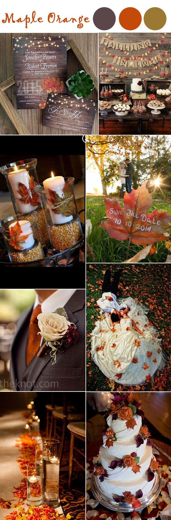 Burnt Orange Maple Leave Fall Wedding Ideas And Colors