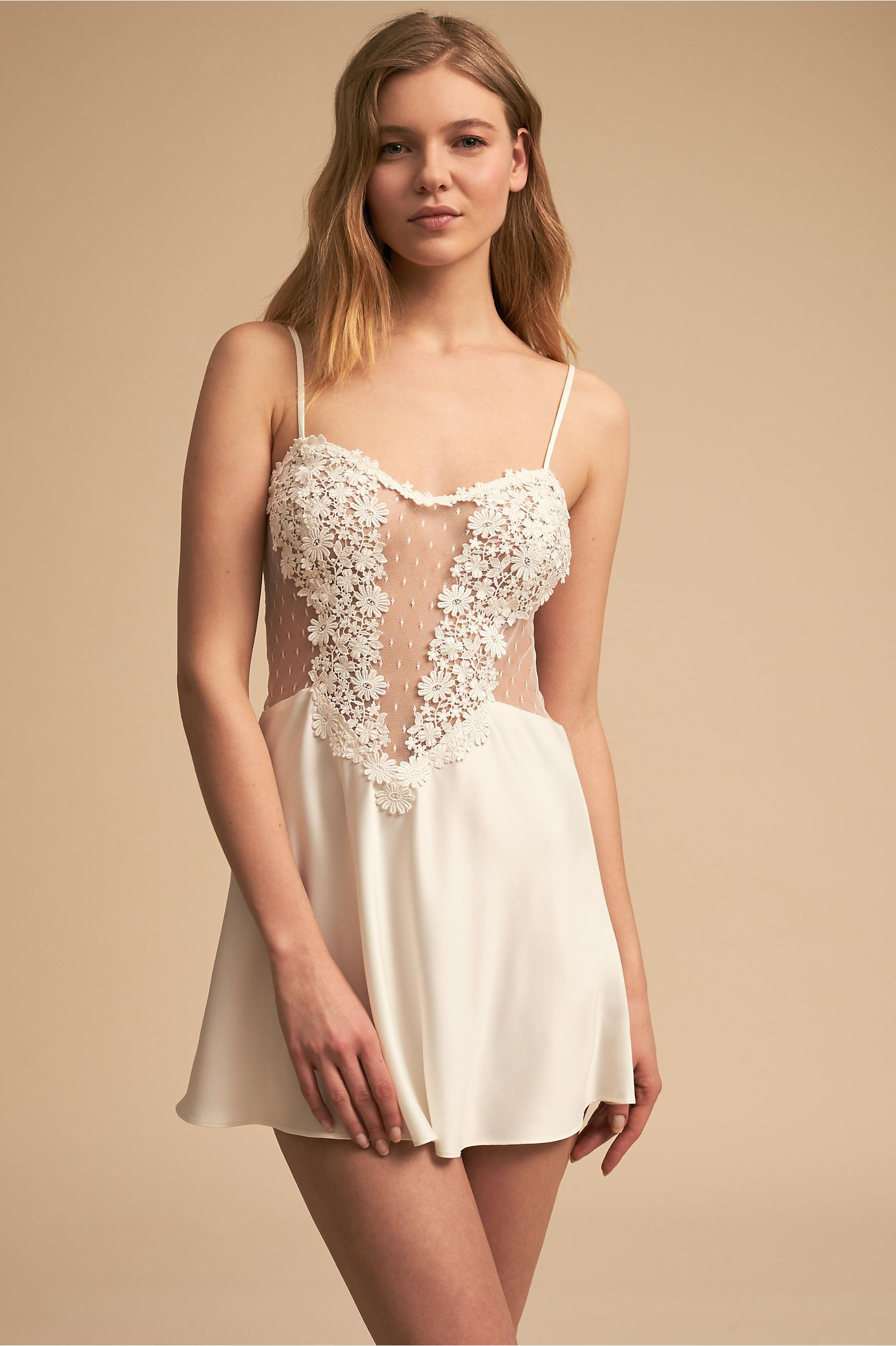 407525d1d BHLDN s Flora Nikrooz Showstopper Chemise in Ivory Babydoll Lingerie