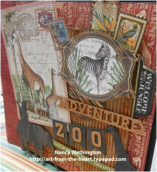 Safari Adventure Collection Graphic 45 Chipboard 1 Decorative Embellishments
